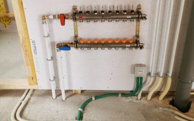 Chalet neuf Vinzier 05/2020 Installation chauffage et sanitaire